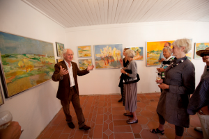Ingvald Holmefjord at the exhibition, 'Landscape & Light', Liza's Gallery 2012