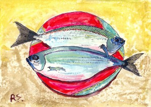 'Fish on Plate' by Rupert Sutton