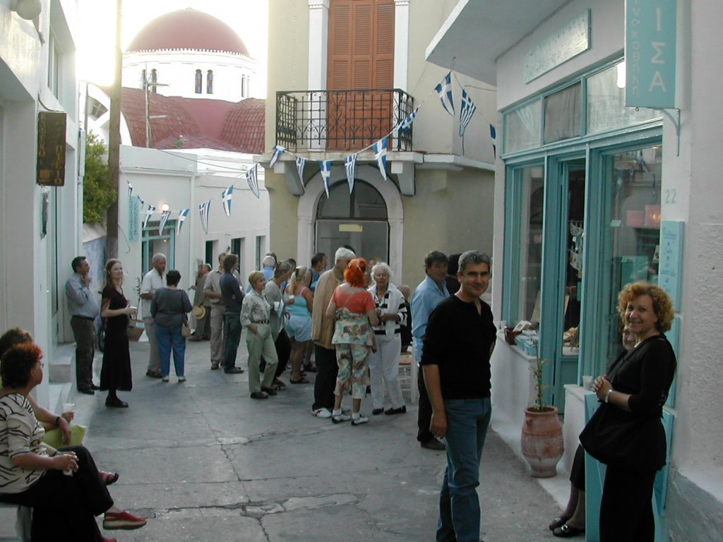 Opening Night in the old street, Leros 2005