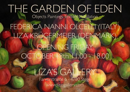 The Garden of Eden Invitation - with painting by Liza Krügermeier