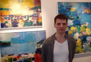 Finleif Mortensen at the opening