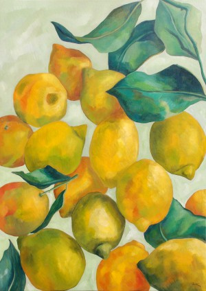 'Lemons and Leaves' by Liza Krügermeier