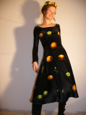 Liza Krügermeier's Lemon Design Dress