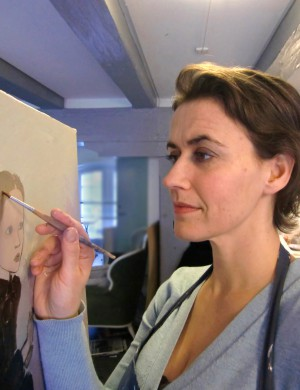 Lisa Lach-Nielsen working in her studio